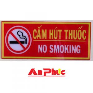 Bảng cấm hút thuốc mica