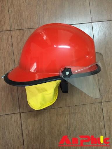 Mũ chống cháy phủ gáy vải màu vàng